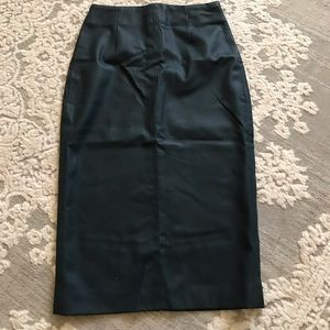 Zara Green Pencil skirt size Xs